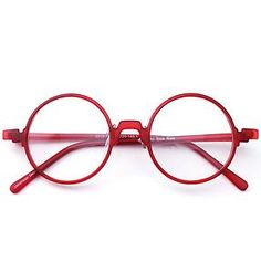 Potters-Vintage-Flexible-Round-Red-Eyeglass-Frames-Spectacles-Eyewear