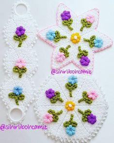 524 Likes, 11 Comments - Sihir Crochet Art, Free Crochet, Crochet Patterns, Crochet Potholders, Crochet Doilies, Crochet Toilet Roll Cover, Crochet Winter, Beanie Pattern, Bracelet Tutorial