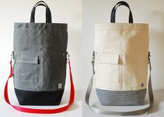 Waxed cotton bags from recycled fabric