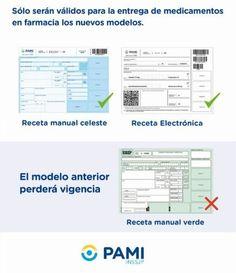 Nuevos modelos de recetas de PAMI