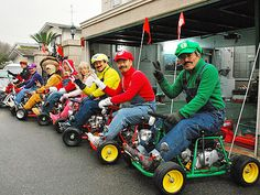 Anyone want to do this with me? Go go karting dressed up as mario kart characters