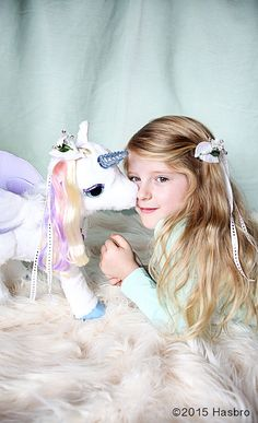 Make a beautiful DIY Winter Bouquet Barrette for you, your girls, and their favorite toys too - like FurReal Friends StarLily My Magical Unicorn.  Inspired and sponsored by FurReal Friends //