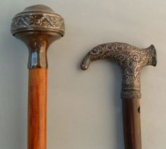 three walking sticks from a selection of objects of vertu