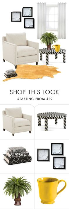 """Black and white corner"" by salsafar ❤ liked on Polyvore featuring interior, interiors, interior design, home, home decor, interior decorating, DwellStudio, WALL, livingroom and monochrome"