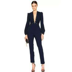 Image 1 of Zimmermann Esplanade Rivet Jumpsuit em Marinho Francês - Moda Femminile Classy Outfits, Cute Outfits, Mode Pop, Best Street Style, Fashion Outfits, Womens Fashion, Fashion Trends, Fashion Styles, Style Fashion