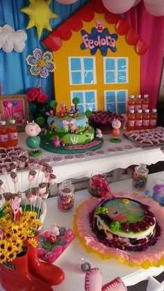Pc's Birthday / Peppa Pig - Photo Gallery at Catch My Party Pig Birthday, Third Birthday, 3rd Birthday Parties, Birthday Party Decorations, Birthday Celebration, Birthday Ideas, Peppa Pig Y George, George Pig Party, Fiestas Peppa Pig