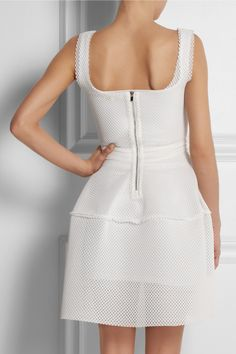 Maje|Diva honeycomb-mesh mini dress|NET-A-PORTER.COM