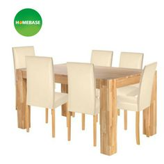 Living Marlow Dining Table And 6 Midback Cream Chairs At Homebase Be Inspired Make Your House A Home Buy Now