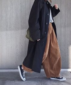 coat and dress outfit Fashion Moda, Look Fashion, Korean Fashion, Winter Fashion, Womens Fashion, Muslim Fashion, 80s Fashion, Fashion 2017, Fashion Rings