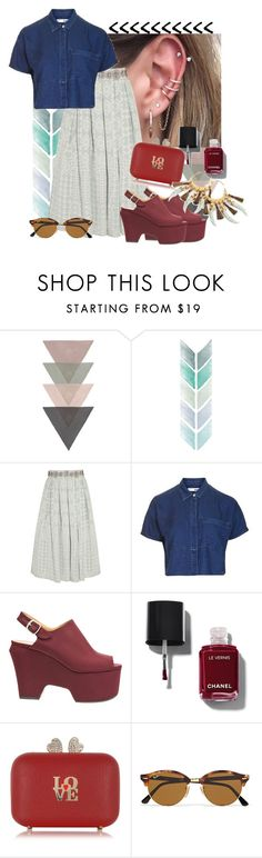 """""""what do u mean?"""" by spiceandsugar ❤ liked on Polyvore featuring Holly Fulton, Topshop, Dries Van Noten, Chanel, Moschino, Ray-Ban and Tory Burch"""
