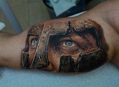 Realistic Gladiator Tattoo | Best tattoo ideas & designs