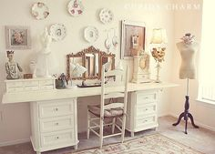 8 ft craft desk | nightstands and an 8 foot board would be perfect for a craft table