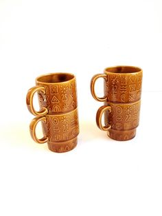 Stacking Mugs from Japan by 1006Osage on Etsy