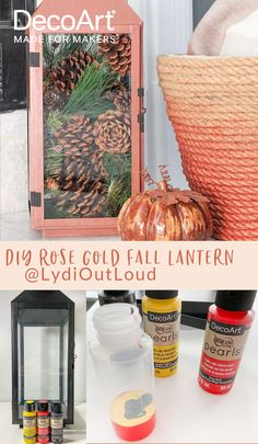 Learn hot to create a shimmering pearlescent Lantern using Americana® Pearls™. Rose Gold Lantern, Gold Lanterns, Black Lantern, Animal Projects, Wood Projects, Home Decor Items, Diy Home Decor, New Americana, Do It Yourself Home