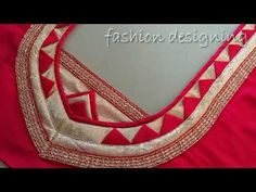 Lets learn how to stitch a very simple back neck design of a blouse. You all can try stitching the back blouse design by watching this video simultaneously. Churidar Neck Designs, Kurta Neck Design, Blouse Back Neck Designs, Fancy Blouse Designs, Fashion Blouses, Women's Fashion, Fashion Design, Blouse Desings, Lehenga Blouse