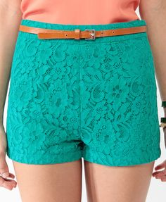 Lace Shorts w/ Belt
