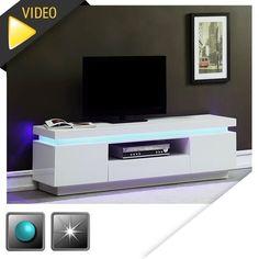 Meuble tv bas en bois 2 tiroirs l140 cm segur meuble tv for Meuble tv shine