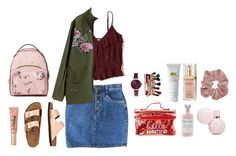 """""""I go straight to V.I.P"""" by katniss1212 ❤ liked on Polyvore featuring Jessica Carlyle, Origins, Elizabeth Arden, French Girl, Hollister Co., TravelSmith and Too Faced Cosmetics"""