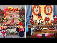 افكار لحفلات ميكي وميني ماوس Various Ideas For Prepare The Tables Of Birthdays Everything Rela Youtube Holiday Decor Holiday Decor