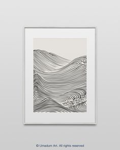 JAPANESE WAVE ART #216 Japanese Wave Print Abstract Line Art Beige Printable Art Organic Japandi Art Black Beige Print Downloadable Neutral tone modern art I made this print being inspired by a book Hamonshu: A Japanese Book of Wave and Ripple Designs (1903) by Japanese artist Mori Yuzan. I reconstructed his drawing and in some prints use one of my Ocean Wave Photography as a background. #LineArt #PrintableArt #SimplelineDrawing #AbstractOcean #WaveArt