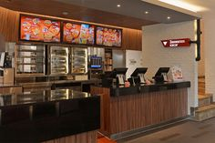 KFC Mongolia Tengis // Interior design for the 1st international first fast food restaurant chain in Mongolia, for KFC // QSR Dining Area // Signage // Front Counter Design // www.obllique.com