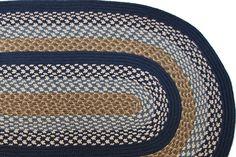 1492 - Navy & Block Bands - Braided Rug