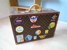 LOUIS VUITTON Monogram Canvas Vintage BISTEN 60 Travel Hard Trunk Case Bag Box #LouisVuitton #BriefcaseAttache