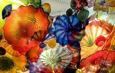 Dale Chihuly<br />Persian Ceiling (detail)<br />2008<br /><span style='font-weight:bold;color:red;'>4,5 x 8,5 m</span><br />San Francisco, de Young Museum<br />Photo Teresa Nouri Rishel<br>