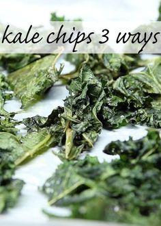 Kale Chips 3 Ways