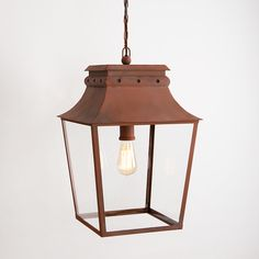 Bath Hanging Lantern Large Corten Steel: Bath Hanging Lantern, available in two sizes, suitable for entrance porches and covered walkways. Vintage Led Bulbs, Covered Walkway, London Wall, Wall Lights, Ceiling Lights, Corten Steel, Ceiling Rose, Hanging Lanterns, Wall Lantern