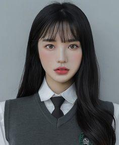 Korean Hairstyles Women, Asian Men Hairstyle, Japanese Hairstyles, Asian Hairstyles, Men Hairstyles, Light Makeup Looks, Asian Eye Makeup, Asian Eyes, Ulzzang Korean Girl