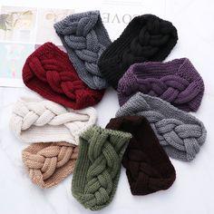 Women Ear Warmer Braid Knitted Solid Headband  Price: 7.95 & FREE Shipping  #hashtag4 Headband Pattern, Knitted Headband, Knitted Hats, Easy Knitting, Knitting For Beginners, Baby Knitting Patterns, Baby Patterns, Knitting Quotes, Headband Styles