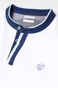 Esprit - Piqué polo shirt with stand-up collar at our Online Shop Polo Shirt Style, Mens Polo T Shirts, Camisa Polo, Fitted Denim Shirt, Adidas Outfit, Men Design, Pique Polo Shirt, Golf Outfit, Dress With Boots