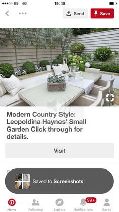 Modern Country Style, Outdoor Furniture Sets, Outdoor Decor, Garden Inspiration, Patio, Explore, Home Decor, Modern Country, Decoration Home
