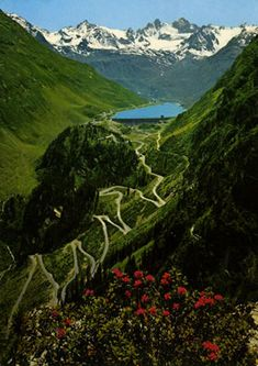 Grossglockner Hochalpenstrasse, Hohe Tauern National Park, Austria. The Tauern Bicycle route starts here and heads to Salzburg and the Danube.