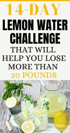 day will help you to boost the metabolism and you will stay healthy while losing the pounds. After 14 days you need to make a pause of few days and then you can continue the challenge for another 14 days. Lemon Water Diet, Lemon Diet, Weight Loss Water, Weight Loss Drinks, Diet Drinks, Healthy Drinks, Stay Healthy, Beverages, Lose Weight Naturally