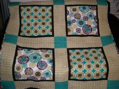 Lagoon ThrowSize Quilt by MyCranberryCottage on Etsy, $195.00