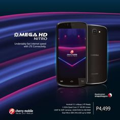 Cherry Mobile Omega HD Nitro with 2GB RAM, 16GB ROM, LTE Now Official For P4,499