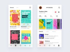 Reading app designed by Yushun. Connect with them on Dribbble; the global community for designers and creative professionals. Ios App Design, Web Design, Website Design Layout, Mobile Ui Design, Graphic Design, Website Design Inspiration, Ui Inspiration, Library App, Music App