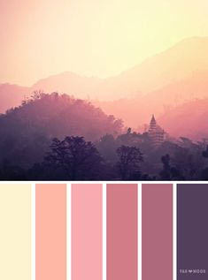 Mauve sky inspired color palette #color #colorpalette #colorinspiration