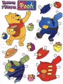 Las Recortables de Veva e Isabel: Winnie -The -Pooh and Friends. Paper Doll Craft, Doll Crafts, Paper Toys, Paper Crafts, Imprimibles Toy Story Gratis, Disney Paper Dolls, Winnie The Pooh Birthday, Pooh Bear, Vintage Paper Dolls
