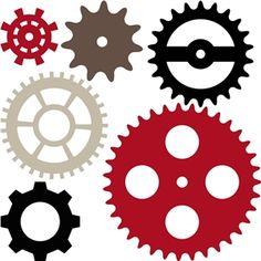 Silhouette Design Store: 6 gears