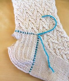 Hand Knitted Things: Knitted Sock Heel Repair - for experienced knitters only.
