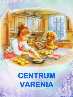 Girl Child Baking in the Kitchen with Curious Puppy Illustration ~ Marcel Marlier Marcel, Cartoon Kunst, Cartoon Art, Art And Illustration, Gifs, Art Mignon, Beautiful Gif, Animal Coloring Pages, Indian Art