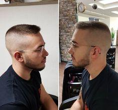 Receding Hairline Styles, Haircuts For Receding Hairline, Flat Top Haircut, High Fade Haircut, Mohawk Hairstyles Men, Cool Hairstyles For Men, Military Haircuts Men, Haircuts For Men, Short Hair Mohawk