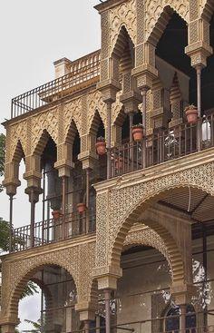 Barcelona: Casa de las Alturas (1890, actual sede del Distrito Horta-Guinardó). Architect: Enric Figueres.