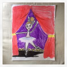 Ballerina-Paper and Crayola colors (9yrs. old)