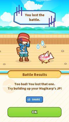 My poor Magikarp jumped up 45.93 m... but still lost. #Magikarp http://koiking.jp/r/