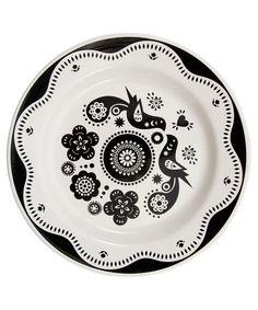 black bird plate