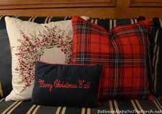 Tartan Christmas Pillows via Between Naps on the Porch